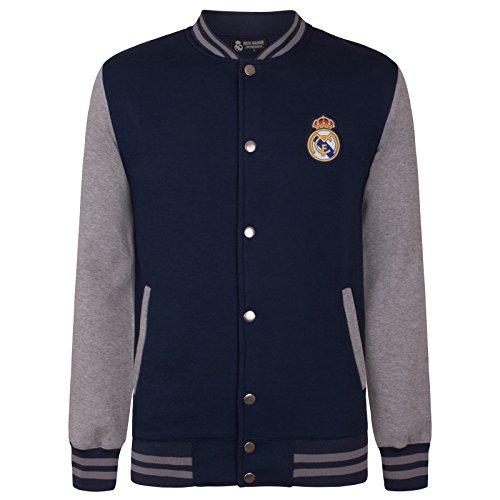 Real Madrid - Chaqueta Deportiva Oficial para niño - Estilo béisbol Americano
