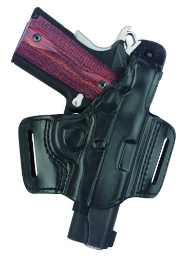 """Gould & Goodrich B809-195 Gold Line Belt Slide Holster With Thumb Break (Black) Fits most 1911-type pistols with 3"""" to 5"""" bbl incl. COLT Defender, Officer's, Commander, Gold Cup, Gov't; KIMBER Compact, Custom, Pro, Ultra; PARA-ORDNANCE (all); SPRINGFIELD 1911 (all); WILSON CQB 1911 (all); BROWNING HP"""