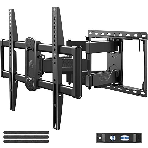 """Mounting Dream Full Motion TV Wall Mount Swivel and Tilt for 42-75 Inch Flat Screen TVs, TV Mounts Bracket with Articulating Dual Arms,Max VESA 600x400mm, 100 lbs. Loading, Fits 16"""" Studs,MD2617"""