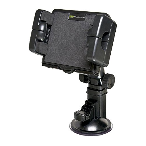 Pro-Mount XL Windshield Mount for cars or trucks works with large GPS devices and tablets Garmin Nuvi TomTom Via Go Magellan DashCam Navigator Smartphones  , Black - Bracketron BT1-514-1