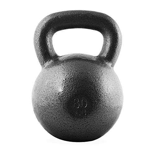 CAP Barbell Cast Iron Kettlebell, Black, 10 lb.
