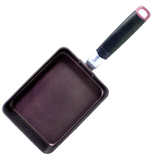 TeChef - Tamagoyaki Japanese Omelette Pan/Egg Pan, Coated with New Safe Teflon Select - Colour Collection/Non-Stick Coating (PFOA Free) / (Aubergine Purple) / Made in Korea (Medium)