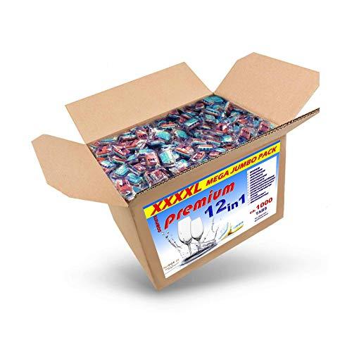 20 Kg (ca.1000 Stück) Spülmaschinentabs 12 in 1 in normaler Folie, A-Ware, Qualitätsware für jede Spülmaschine geeignet, Geschirrspültabs, Spültabs