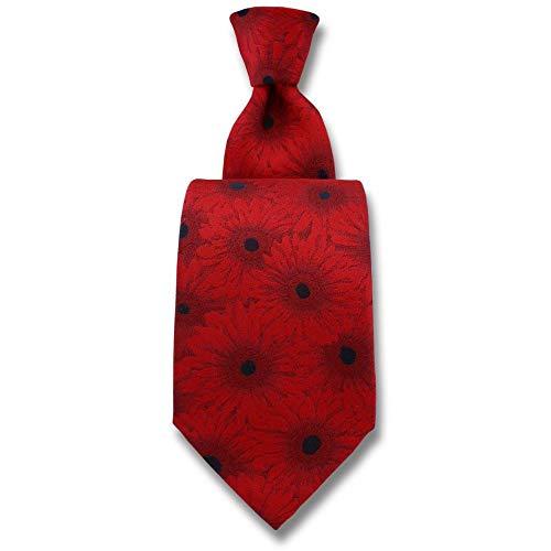 Robert Charles - Cravate Gerbera Rouge
