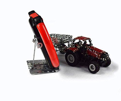 RC Auto kaufen Traktor Bild 5: Tronico 09581 - Metallbaukasten Traktor Case IH Magnum 340 mit Kippanhänger und Fernsteuerung, Maßstab 1:64, Micro Serie, rot, 461 Teile*