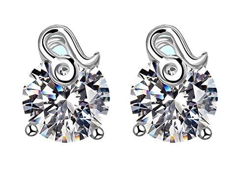 WLD Neuheit - Damen Damen 925 Sterling Silber Ohrringe Kristall Ohrstecker/Löwe