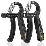 ALMAH Hand Grip Exerciser Strengthener 2 Pack, Grip Strength Trainer Adjustable Resistance 10-60kg...