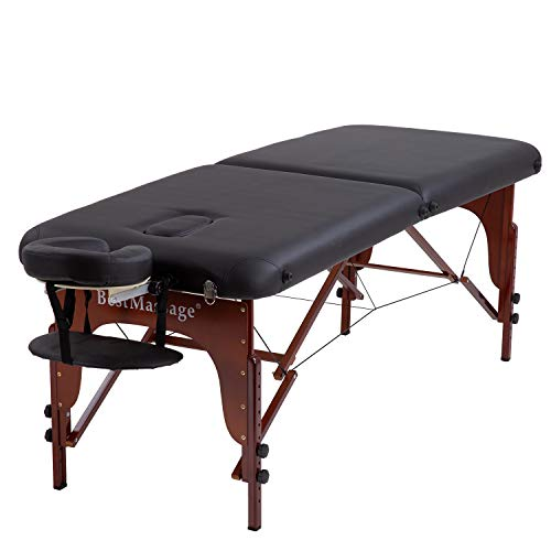 Portable Massage Table Massage Bed SPA Bed Height Adjustable 2 Fold Massage Table 77 Inch Long 30 Inch Wide PU Portable Salon Bed 3 Inch Thick Sponge Deluxe Backpack Reiki Table