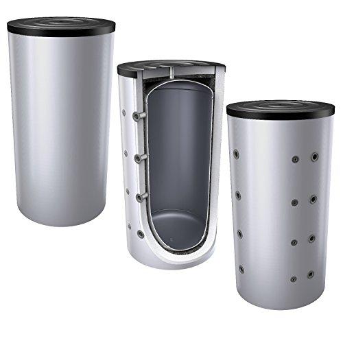 1000 Liter Pufferspeicher/Heizungsspeicher - Warmwasserspeicher für Heizungswasser, ohne Wärmetauscher, inkl. Isolierung. Für Brauch- und Trinkwasser siehe emaillierte EWS8B Reihe.