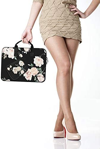 Surface Laptop 13.5 Peony Laptop Sleeve 13 13.3 13.5 Inch Case for MacBook Air Pro 13-13.3 Water Repellent Elastic Neoprene Notebooks Hand Bag with Handle and Small Case