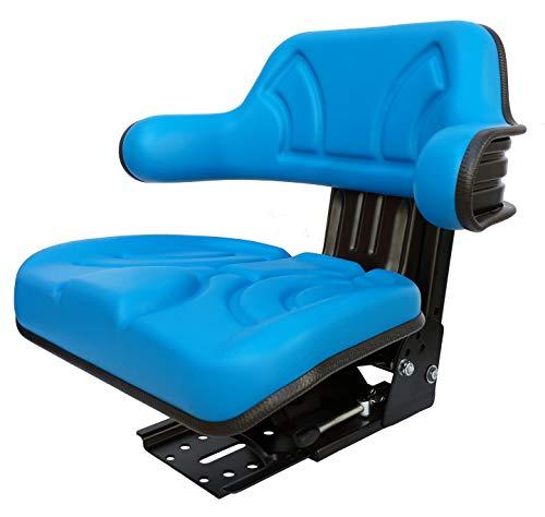 Traktorsitz Schleppersitz New Holland Ford Oldtimer Sitz PVC Blau passend