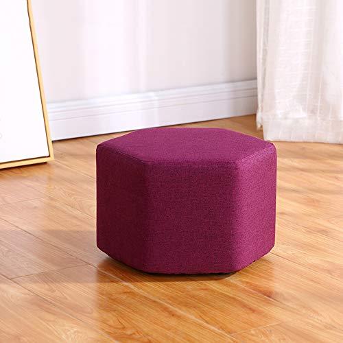 Taburete de madera japon¨¦s taburete moderno taburete para ni?os taburete de moda hexagonal sof¨¢ para adultos taburete de la sala de estar del hogar taburete de la mesa de caf¨¦(30x20cm)