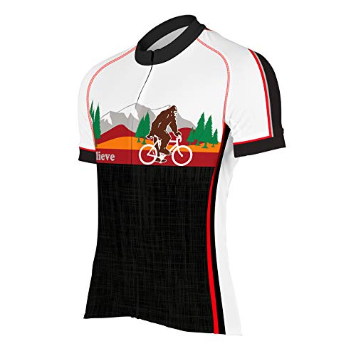 CORVARA BIKE WEAR Men's Bigfoot Cycling Short Sleeve Bike Jersey (X-Large) Black