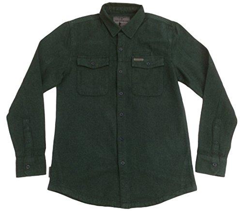 VOI - Chemise casual - Avec boutons - Col Chemise Classique - Manches Longues - Homme - Vert - Vert, Large