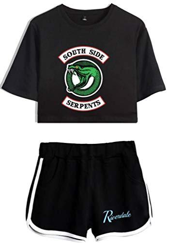 Leslady Riverdale T-Shirts und Kurze Hose Southside Serpents Gedruckt Bekleidungsets Mit Sport Sommer Anzug Für Jugendliche Männer und Frauen