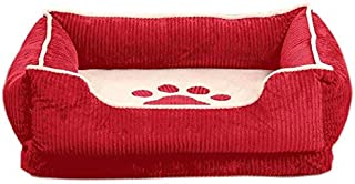 Dog beds Medium Washable Kennel Removable and Washable Teddy Pet Mattress Schnauzer Nest Large Dog Puppy Dog Mat Winter Warm Dog House Indoor