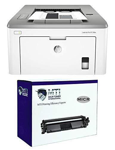 MICR Toner International Laserjet Pro M118dw Check Printing Bundle with MTI CF294A 94A Modified MICR Toner Cartridge