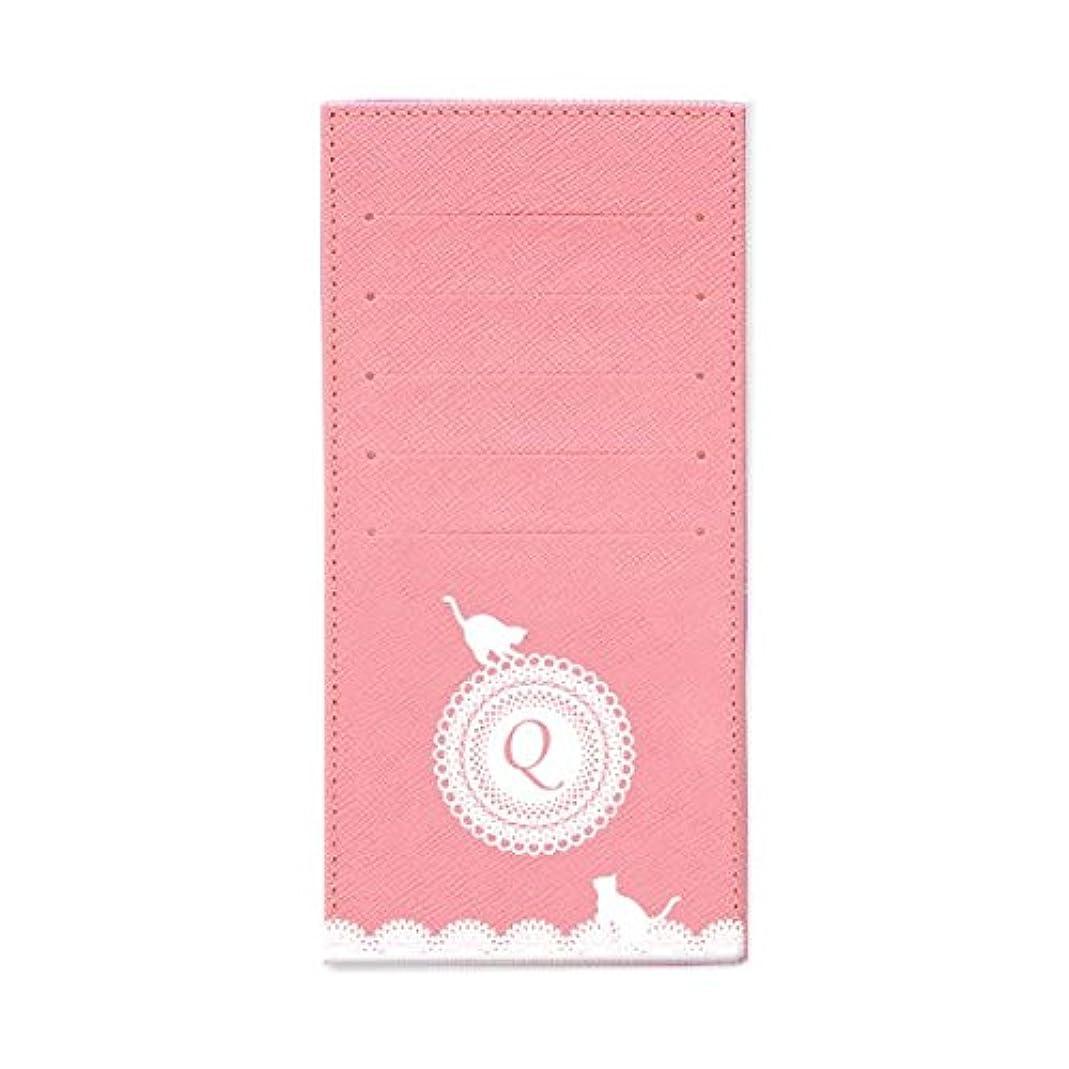 クリーム物理学者一元化するインナーカードケース 長財布用カードケース 10枚収納可能 カード入れ 収納 プレゼント ギフト 3021レースネーム ( Q ) パウダーピンク mirai