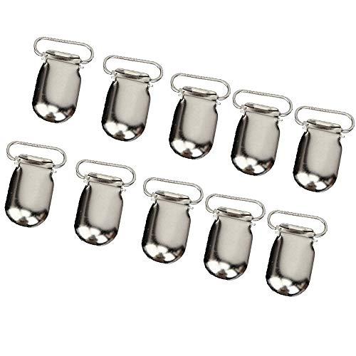 Schneespitze 50 Schnullerketten Clip Schnuller,Clip Hosenträger Knopf Hosenträger befestigt die Schnullerhalter Clips Lätzchen Spielzeughalter