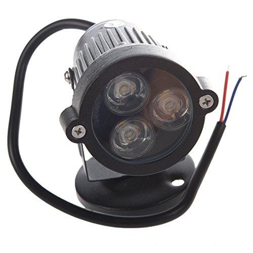 Gaoominy 3 * 1W 220V LED Rasen Licht Garten Leuchte Outdoor Strahler Lampe Warmweiss