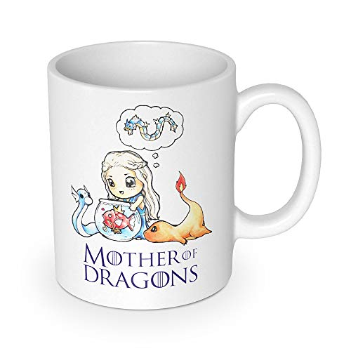 getDigital Mother of Dragons Tasse-Becher für Anime & Fantasy Serien Fans – Hochwertige Keramik Kaffeetasse als Fanartikel, weiß, 10 x 10 x 10 cm