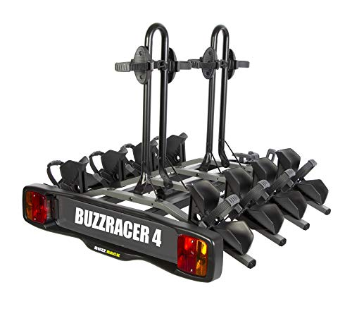 Buzzracer 4 fietsendrager voor trekhaak, platform voor 4 fietsen