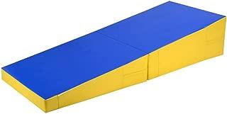 Bloodyrippa Gymnastics Cheese Wedge Incline Mat, Folding Gym Fitness Tumbling Skill Shape Mat for Kids Play Home Exercise Aerobics