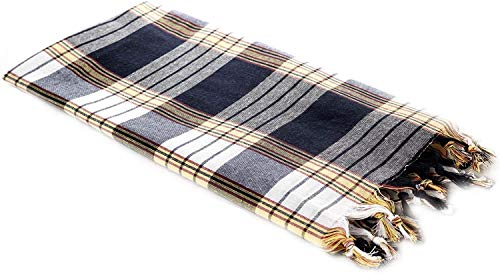 Carenesse Hamamtuch CLASSIC schwarz kariert, 100% Baumwolle, 80 x 170 cm, leicht, kleines Packmaß, Pestemal, Saunatuch, Badetuch, Strandtuch, Handtuch Backpacker, Turkish Towel, Fouta