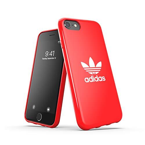 adidas Funda para teléfono móvil diseñada para iPhone 6/6S/7/8/iPhone SE2, Carcasa Probada contra caídas, Bordes elevados, Carcasa Original, Color Rojo Escarlata
