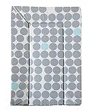 Geuther - Wickelauflage / Wickelmulde 5831, abwaschbar aus Folie, genäht, 54 x 73 cm, Punkte