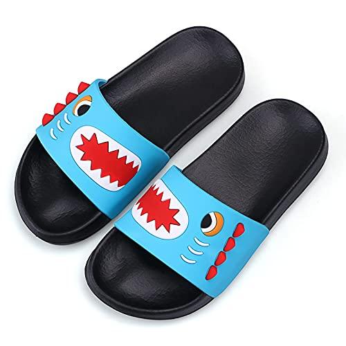 Pantofole estive per Bambini Pantofole da spiaggia e piscina per ragazzi Pantofole da bagno morbide antiscivolo sandali blu 33 EU