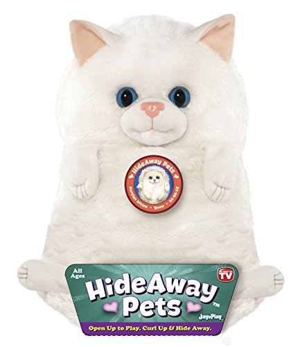 Jay at Play Hideaway Pet - Persian Kitten - Unfoldable Pillow Plush Animal - As Seen on TV