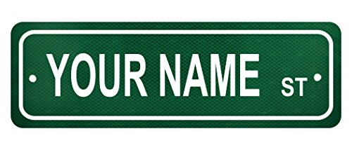 Personalized Custom Name Street Sign - 6' x 18' Authentic Reflective Aluminum