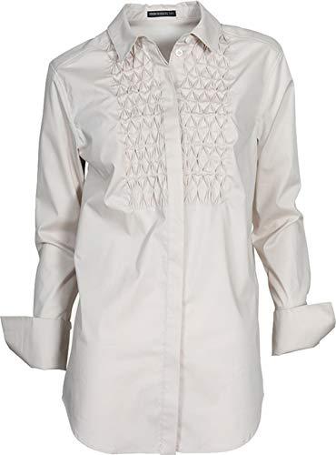 Drykorn Damen Bluse Manouka mit gesmokter Front Puder 2 / S