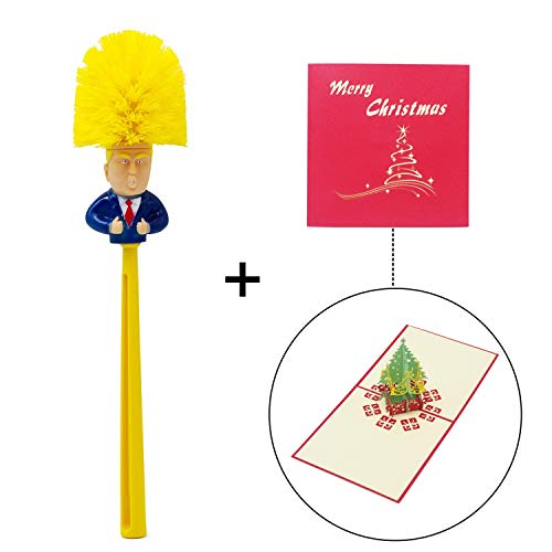 Bravo Sport Donald Trump Toilet Brush Trump Toilet Scrubber, Make Toilet Great Again, Commander in Crap, Funniest Political Gag Gift