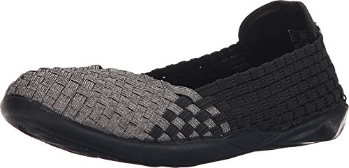 Bernie Mev Women's Braided Catwalk Black / Pewter Flats - 9.5 B(M) US