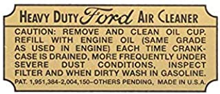 MACs Auto Parts 47-47540 Heavy Duty Oil Bath Air Cleaner Decal Truck