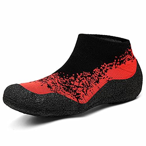 Calcetines, Zapatos De Yoga, Pareja, Al Aire Libre, Vadeando Río Arriba, Zapatos, Cinta De Correr Plegable, Zapatos De Fitness, Rojo,5.5~6.5