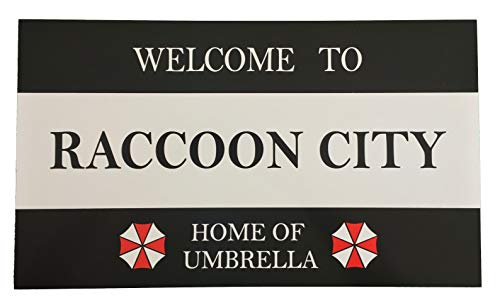Super6props Resident Evil Welcome to Raccoon City Home of Umbrella Aluminium Sign 430mm x 250mm
