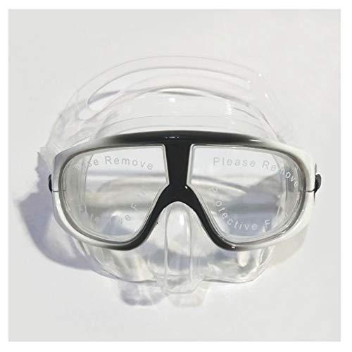 xiaokeai Gafas de Buceo Libre máscara del Salto Anti-vaho Scuba adecuados for los Peces de Caza de Snorkel y Equipo de natación (Color : F)