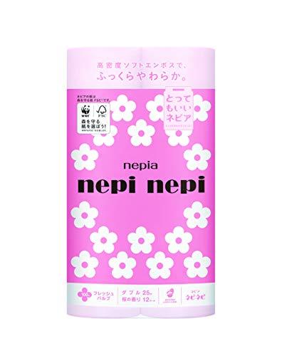 ネピア ネピネピトイレット 桜 ダブル 12ロール