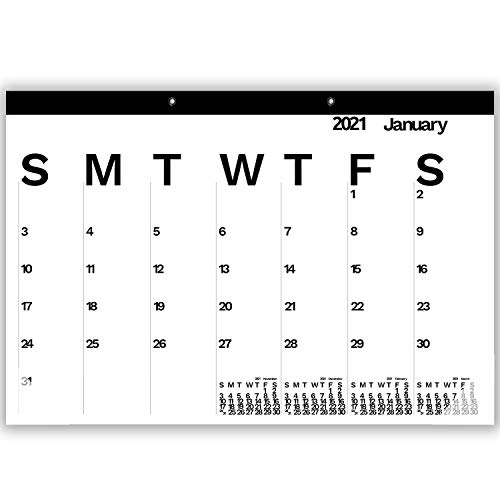 2021 The Desk Pad Calendar Months Alternate Black and White Wall Calendar Large Monthly Wall Planner