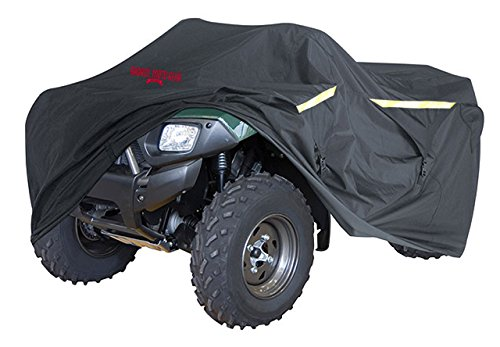 Badass Moto Ultimate ATV Cover Waterproof Heavy Duty Four Wheeler Cover - Industrial Grade Water Proof Quad Cover, Taped Seams, Vents, Trailerable, Night Reflective, Zipper Tank Access, Small 75 Inch