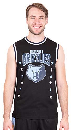 Ultra Game NBA Memphis Grizzlies Mens Jersey Sleeveless Muscle T-Shirt, Black, XX-Large
