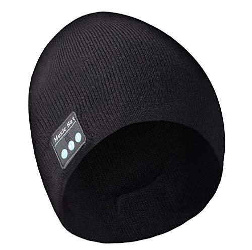 massway Bluetooth Mütze Wintermütze Beanie Mütze Bluetooth 5.0 Strickmütze Männer & Frauen Geschenke, Unisex Winter Strickmütze Outdoor-Sport, Skifahren, Laufen