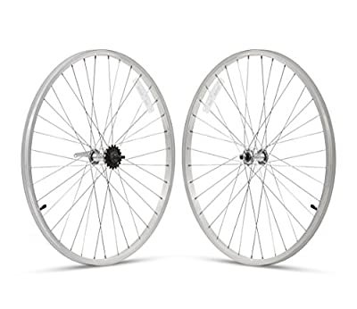 Firmstrong 3-Speed Beach Cruiser Bicycle Wheelset, Front/Rear, Silver, 26""