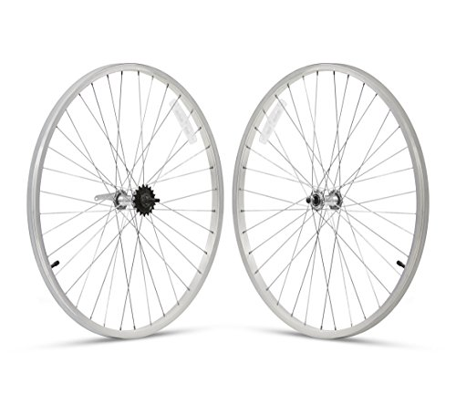 Firmstrong 1-Speed Beach Cruiser Bicycle Wheelset, Front/Rear, Silver, 24'