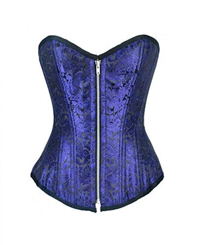 Burlesque - Disfraz de brocado azul para fiesta de Halloween