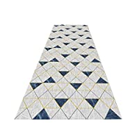 現代のストライプラグ、黒とグレーとイエローノンスリップラグドアマットカーペットランナー廊下、回廊アイルエリアラグ階段カーペットに適し、任意のサイズ クリスマスお祝いギフト (Color : B, Size : 1x2m)