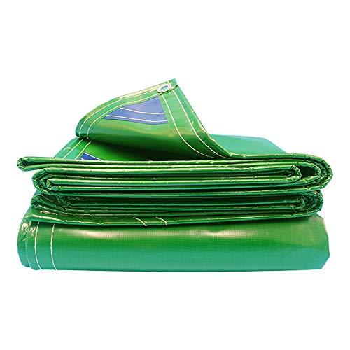 DGLIYJ- Abdeckplanen Cuchillo De PVC Verde Paño De Raspado Lona Impermeable 500g / ㎡ Lona De Aislamiento Térmico De Invernadero Engrosada Al Aire Libre, Plegable Resistente Al Desgarro(Size:4x6m)